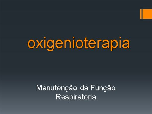 Curso Online de OXIGENIOTERAPIA