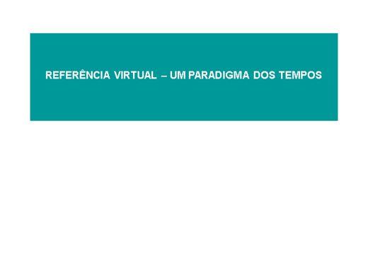Curso Online de REFERENCIA VIRTUAL - UM PARADIGMA DOS TEMPOS