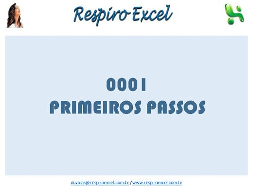 Curso Online de A001 - EXCEL - Primeiros Passos