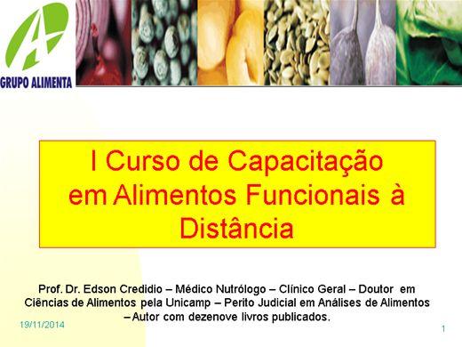 Curso Online de Nutrição Alimento Funcional I