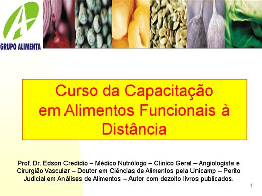 Curso Online de Nutrição Alimento Funcional II