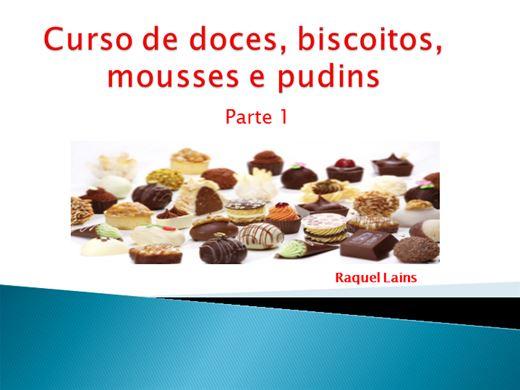 Curso Online de  Curso de doces, biscoitos, mousses e pudins - Parte 1