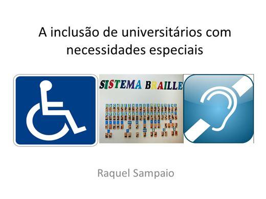 Curso Online de A Inclusão de universitários com necessidades especiais