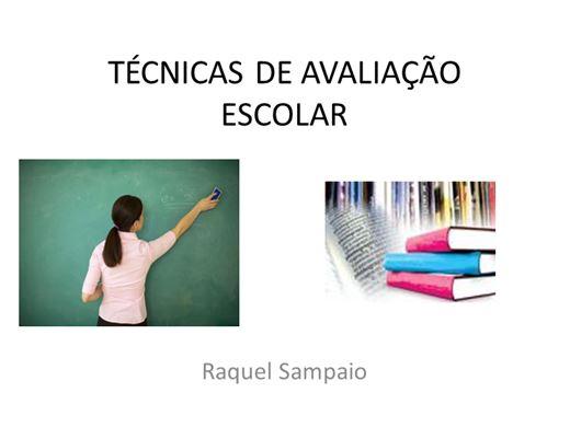 Curso Online de TÉCNICAS DE AVALIAÇÃO ESCOLAR