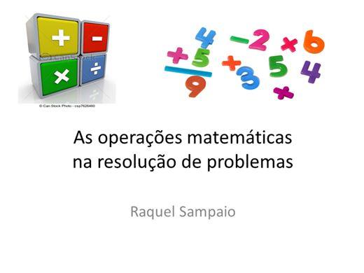 Curso Online de As operações matemáticas na resolução de problemas