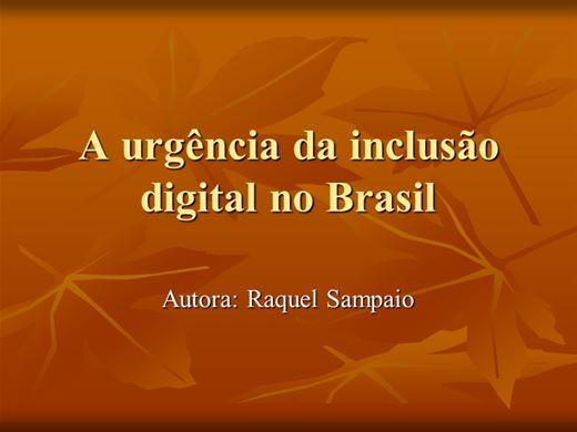 Curso Online de A urgência da inclusão digital no Brasil