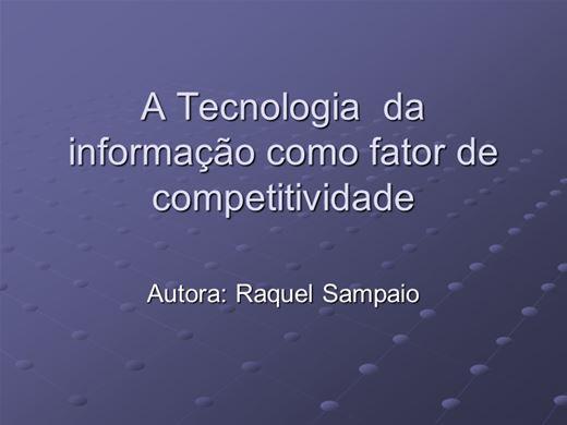 Curso Online de A Tecnologia  da informação como fator de  competitividade