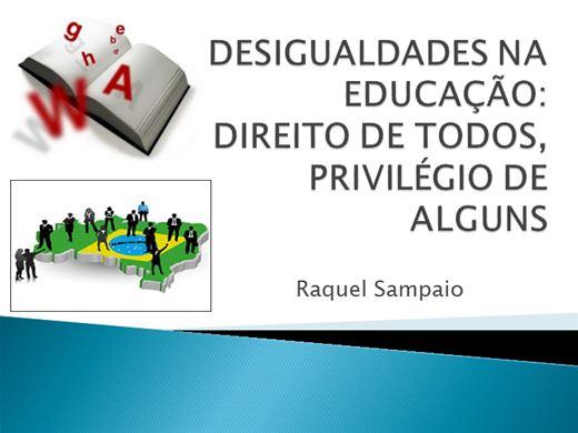 Curso Online de DESIGUALDADES NA EDUCAÇÃO: DIREITO DE TODOS, PRIVILÉGIO DE ALGUNS