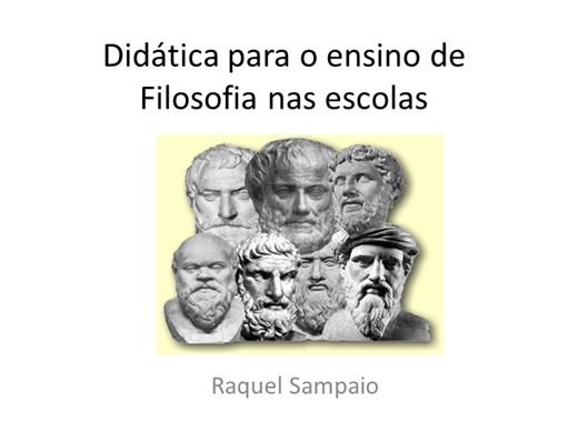 Curso Online de Didática para o ensino de Filosofia nas escolas