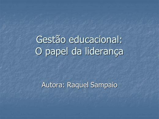 Curso Online de Gestão educacional: O papel da liderança