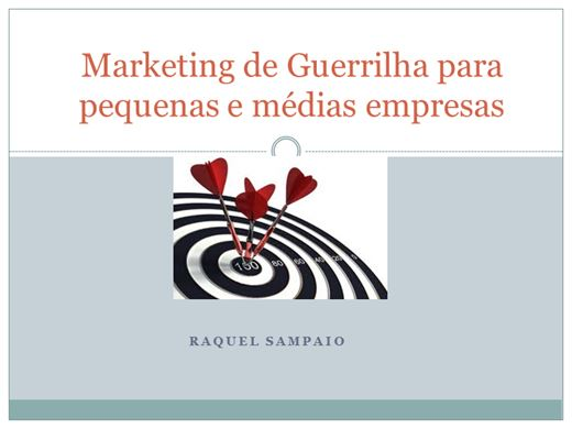 Curso Online de Marketing de Guerrilha para pequenas e médias empresas