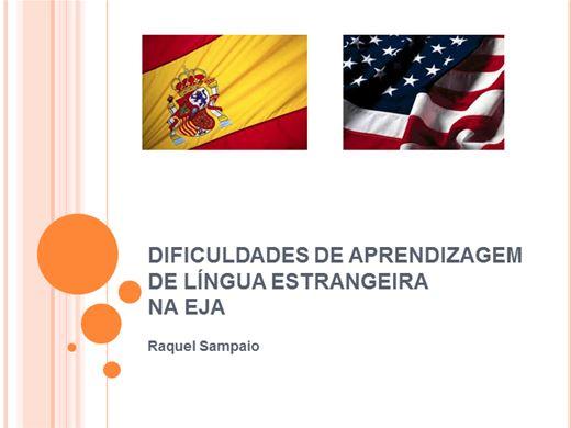 Curso Online de DIFICULDADES DE APRENDIZAGEM DE LÍNGUA ESTRANGEIRA NA EJA