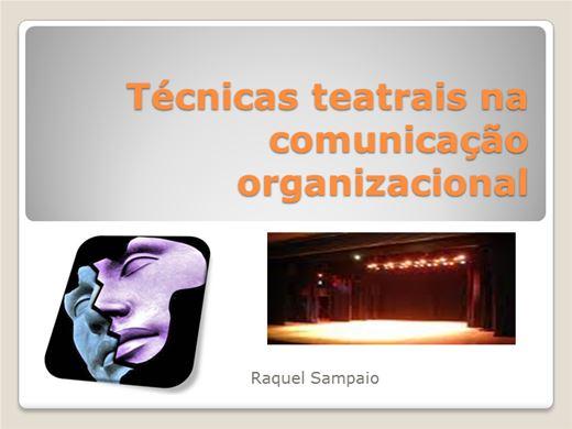 Curso Online de Técnicas teatrais na comunicação  organizacional