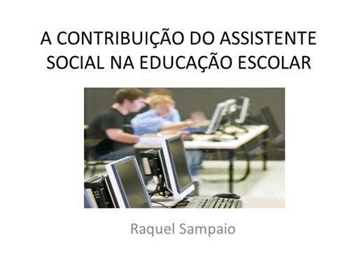 Curso Online de A CONTRIBUIÇÃO DO ASSISTENTE SOCIAL NA EDUCAÇÃO ESCOLAR