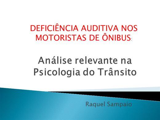 Curso Online de DEFICIÊNCIA AUDITIVA NOS MOTORISTAS DE ÔNIBUS: Análise relevante na  Psicologia do Trânsito