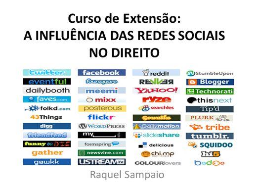 Curso Online de A INFLUÊNCIA DAS REDES SOCIAIS NO DIREITO