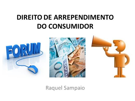 Curso Online de DIREITO DE ARREPENDIMENTO DO CONSUMIDOR
