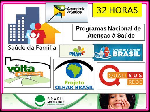 Curso Online de Programas Nacional de Atenção à Saúde