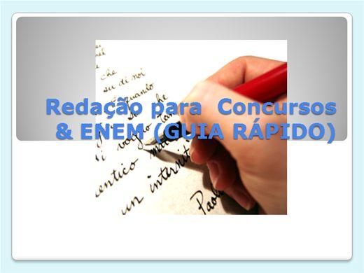 Curso Online de Redação Para Concursos & ENEM (Guia Rápido)