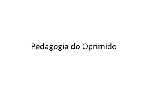 Curso Online de Pedagogia do Oprimido Paulo Freire