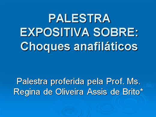 Curso Online de CURSO TIPOS DE CHOQUES ANAFILATICOS