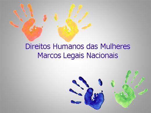 Curso Online de Marcos Legais Nacionais dos Direitos Humanos das mulheres