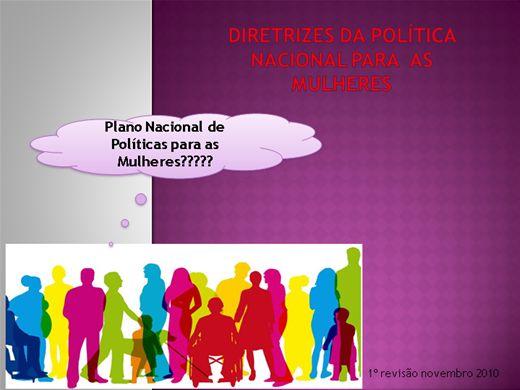 Curso Online de Diretrizes da Politica Nacional para as Mulheres