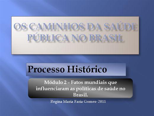 Curso Online de Fatos mundiais que influenciaram as políticas de saúde no Brasil.
