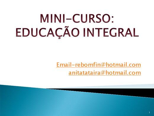 Curso Online de Mini curso: Educação Integral