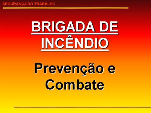 Curso Online de Brigada de Incêndio