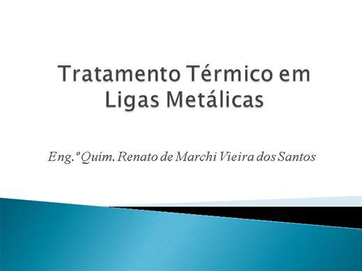 Curso Online de Tratamento térmico em ligas metálicas