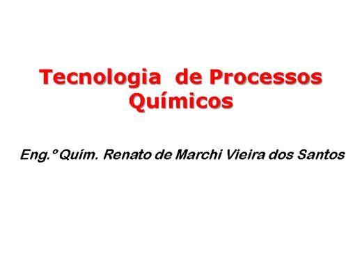 Curso Online de Tecnologia de Processos Químicos