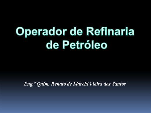 Curso Online de Operador de Refinaria de Petróleo