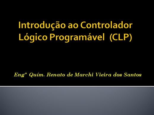 Curso Online de Introdução ao Controlador Lógico Programável - CLP