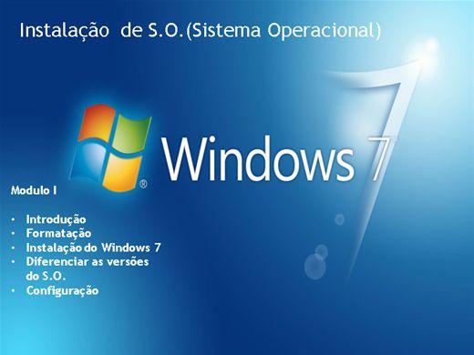 Curso Online de Instalação de Sistema Operacional (S.O.)