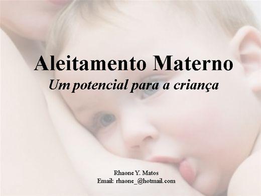 Curso Online de Aleitamento Materno  - Um potencial para a criança