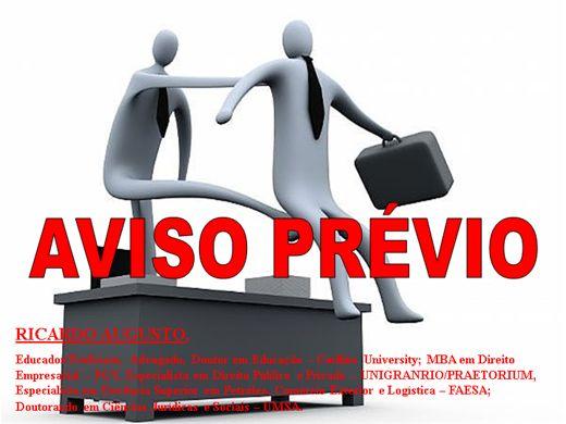 Curso Online de AVISO PRÉVIO
