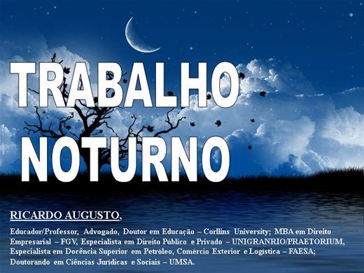 Curso Online de TRABALHO NOTURNO
