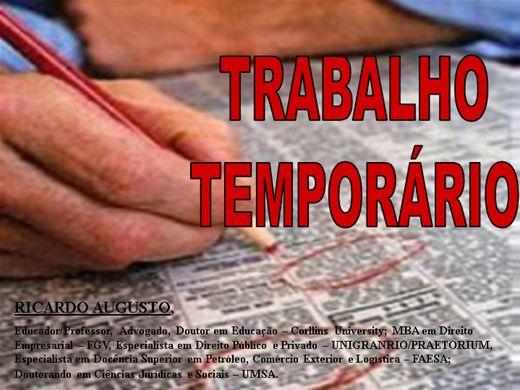 Curso Online de TRABALHO TEMPORÁRIO