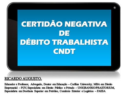 Curso Online de CERTIDÃO NEGATIVA DE DÉBITO TRABALHISTA