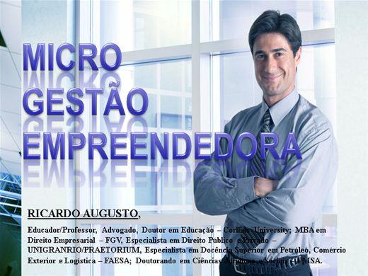 Curso Online de MICROGESTÃO EMPREENDEDORA