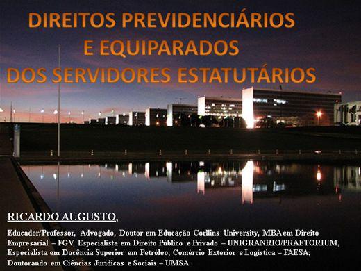 Curso Online de DIREITOS PREVIDENCIÁRIOS E EQUIPARADOS DO SERVIDOR PÚBLICO