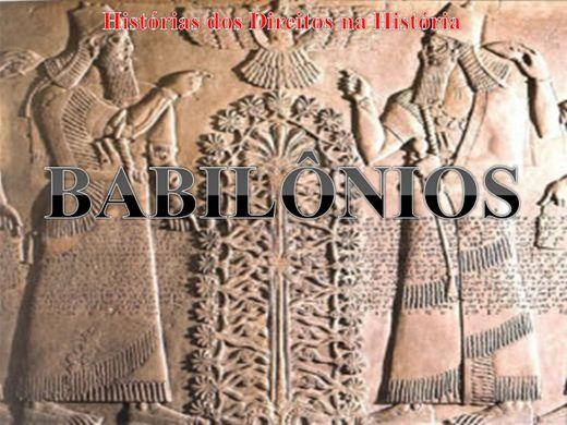 Curso Online de HISTÓRIA ANTIGA DO DIREITO BABILÔNICO