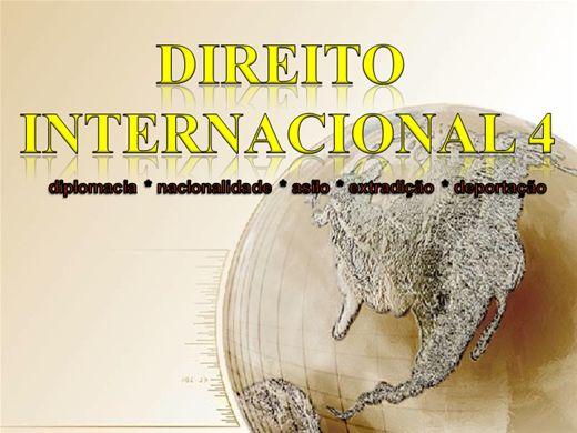 Curso Online de DIREITO INTERNACIONAL 4 diplomacia nacionalidade asilo deportação