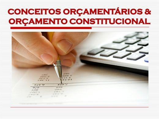 Curso Online de CONCEITOS ORÇAMENTÁRIOS E ORÇAMENTO CONSTITUCIONAL