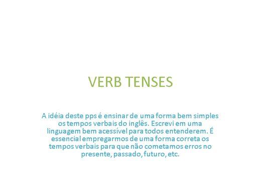 Curso Online de TEMPOS VERBAIS