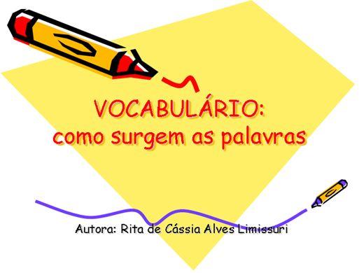 Curso Online de Vocabulário: Como surgem as palavras
