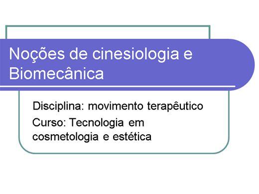Curso Online de Noções de Cinésiologia e Biomecânica - Cosmetologia e estética