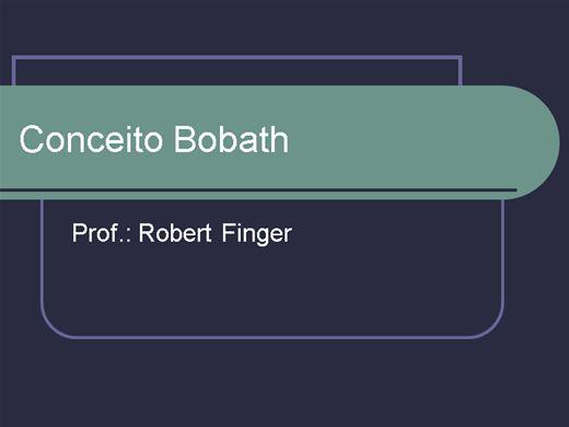 Curso Online de Conceito Bobath - Princípio