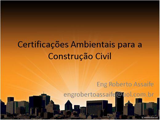 Curso Online de Certificações LEED na construção civil